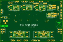 Low noise power supply test board